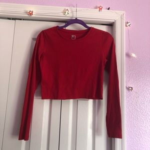 Long Sleeve Crop Top ❤️